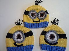 This is a quick little hat for some friends, who really love minions. Basic hat with no tricky color changes or intarsia. The surface details are all crocheted and sewn on afterward.