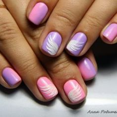 Nails with angel wings photo