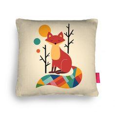 Rainbow Fox Cushion