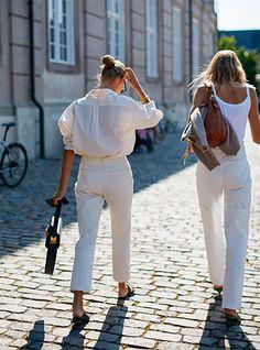Copenhagen Style, Copenhagen Fashion Week, Look Fashion, Timeless Fashion, Summer Wear, Spring Summer Fashion, Trendy Outfits, Summer Outfits, White Outfits