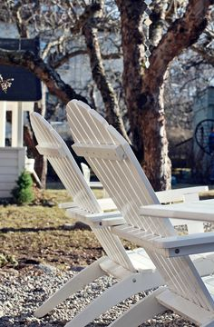 Adirondack Chairs - Also known as the chairs you can't get out of.