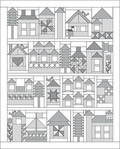 House quilt pattern