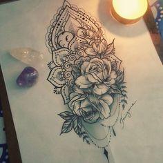 Feito com amor para uma cliente especial #tattoo #drawing #taizane #mandala #ornamentaltattoo #rosetattoo #floraltattoo