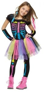 Skeleton Costume - Girls Costumes
