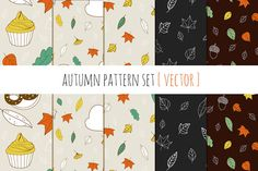 Check out Autumn pattern set by Rinomonsta on Creative Market