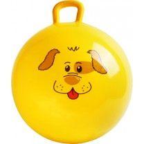 Hüpfball Hund Der knallig gelbe Ball mit seinem fröhlichen Gesicht trainiert die Koordination und das Gleichgewicht, fördert Muskelaufbau und Ausdauer - aber vor allem macht er eines : SPASS!! Ball: Ø ca. 45 cm