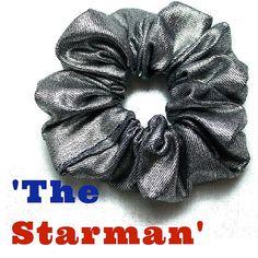 Hair Scrunchie 80s 90s Hair Tie 'The Starman' by FannyAdamsVC