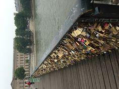 Love Lock Bridge over the Seine.