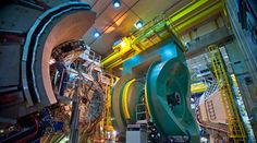 The Relativistic Heavy Ion Collider's PHENIX detector at Brookhaven National Laboratory is shown. Particle Collider, Strange Matter, Lab Image, Particle Accelerator, Physics Research, Large Hadron Collider, National Laboratory, Quantum Physics, Theoretical Physics