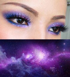 101 Galaxy Inspired Eye Makeup Ideas - Fashiotopia - Becky Shumway - Space Everything Cool Makeup Looks, Beautiful Eye Makeup, Simple Eye Makeup, Eye Makeup Tips, Diy Makeup, Makeup Ideas, Makeup Tutorials, Makeup Inspo, Makeup Inspiration