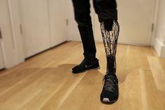 Increíble prótesis de pierna hecha con impresión 3D