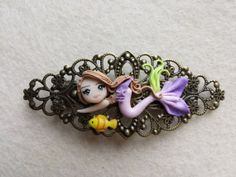 Spring mermaid fimo polymer clay by Artmary2 on Etsy, €7.00