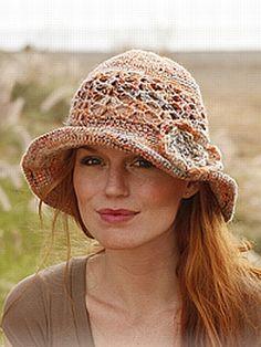 crochet pattern - pastorale cloche with flower
