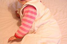 Aurelia's daughter, a Maman Reveuse baby with her sleeping bag. Enjoy the natural sleep.