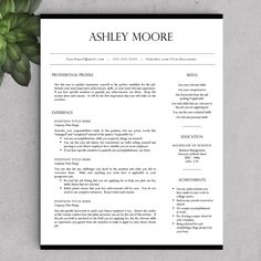 Resumes Templates For Word Resume Template Word Resumes Online Job Resume Template Resume .