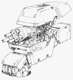 A scrapbook of cyberpunk visions to get you dreaming about the future to come. Robot Concept Art, Weapon Concept Art, Armor Concept, Character Concept, Character Design, Robots Drawing, Big Robots, Arte Robot, Gundam Art