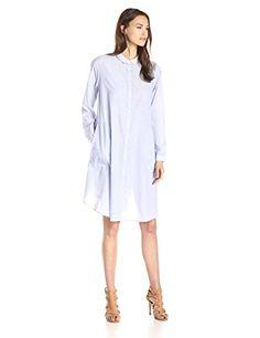 Steven Alan Women's Convertible A-Line Shirt Dress