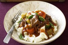 This warming Beef and vegetable stew is hearty and easy to make - great for a cold winter night.