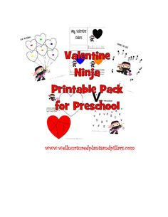 {FREE} Valentine Ninja Printable Pack for Preschool
