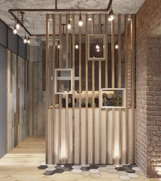 How To Design Industrial Style Bachelor Pads: 4 Examples Whether you are a bachelor looking to redo your loft or want to bring a bit of the city style into your own home, these inspirational lofts are sure to help. Wood Partition, Living Room Partition Design, Room Partition Designs, Interior Design Living Room, Living Room Designs, Schönheitssalon Design, Design Room, Design Styles, Apartment Design