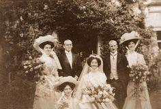 Wedding of Hilda Mary (Dolly) Grylls to Douglas Wood, 20 September 1908.