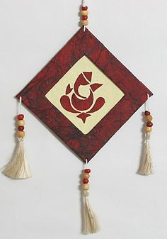 Ganesha - Wall Hanging (Handmade Paper)) In gallery Wall Hanging Crafts, Diy Wall Art, Diy Wall Decor, Room Decor, Diwali Craft, Diwali Diy, Diy Diwali Decorations, Paper Decorations, Diy Decoration