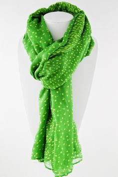 """SALE! (LIMITED QUANTITY) Aurora Kingdom Dotted Scarf Set!    These Aurora Kingdom scarves are great versatile pieces! 100% polyester and measuring 72"""" x 44"""" making them suitable for either a scarf for those cool nights or even a sarong for a day at the beach or pool. The set includes two great colors green and royal blue. $14.99 for 2!   Shop now while supplies last!"""