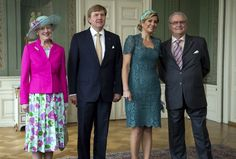 MYROYALS  FASHİON: King Willem-Alexander and Queen Maxima visit Denmark-Queen Margrethe, King Willem-Alexander, Queen Maxima, Prince Henrik, June 25, 2013