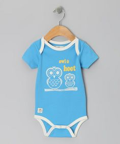 Take a look at this Ocean Blue 'Owl & Hoot' Bodysuit - Infant by Owl & Hoot on #zulily today!