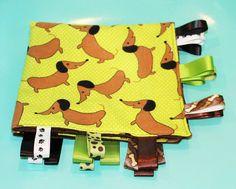 Ribbon Baby Blanket -- Dachshund Doggies  https://www.etsy.com/listing/162557353/ribbon-baby-blanket-dachshund-doggies?ref=market