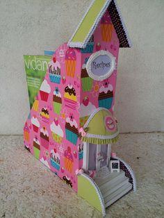 Organizador Revisteiro Cupcake | Lilicutes Ateliê | Elo7