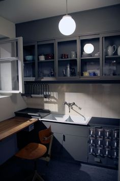 Frankfurt Kitchen, Margarete Schütte-Lihotzky (Austrian, 1897-2000). From the Ginnheim- Höhenblick Housing Estate, Frankfurt-am-Main, Germany, 1926-27.