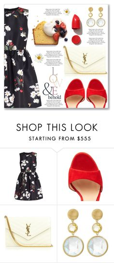 """""""Outfit of the Day"""" by dressedbyrose ❤ liked on Polyvore featuring RED Valentino, Gianvito Rossi, ASOS, Yves Saint Laurent, Marco Bicego and NARS Cosmetics"""