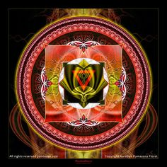 Original Mandala Mooladhara Chakra, Root Chakra, Spiritual, Visionary Art, printed on archival photopaper