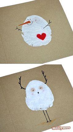 Potato Stamp Christmas Card