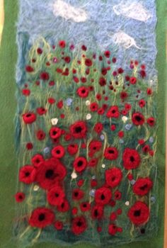 Poppy field by Lauran Colbeck ~ World Of Wool - Gallery of Customers Wool Craft Work