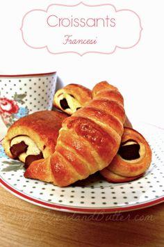 Bread and Butter.....: Pain au chocolat e croissants francesi!
