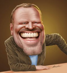Stefan Raab von Michael Becker (micbec) - Home Page Funny Caricatures, Celebrity Caricatures, Michelle Lewin, Cartoon Faces, Funny Faces, Stefan Raab, Spitting Image, Black And White Cartoon, Creative Poster Design