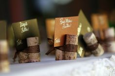 Table decorations. A great idea for the next dinner party. I mean, there are always extra corks lying about.
