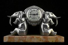 """Французский Арт-Деко. """"Слон"""". Часы artdecoceramicglasslight.com"""
