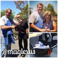 #Congrats Maria! #Winner of 2 #SFGiants tix for this Sundays game. #maglexus #lucky #winnerwinnerchickendinner #employeeappreciation #bbq
