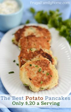 These easy potato pancakes are so simple to make. They are a perfect side dish for St. Patrick's day or any day. It's a great recipe for breakfast or a side dish for dinner. Some people call them Irish potato pancakes, I call them the best potato pancakes you can make. #PotatoPancakes #EasyRecipe #Recipe