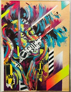 Bianca Romero Art #biancaromeroart #biancaromeroartist #contemporaryart #mixedmediaart #collageart #streetartist #streetartistnyc #artforsale #custompainting #artcollectors