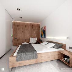 Średnia sypialnia małżeńska, styl nowoczesny Sypialnia - zdjęcie od H+ Architektura