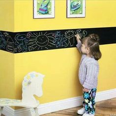 Coloring activity: Chalkboard paint to make a doodle boarder