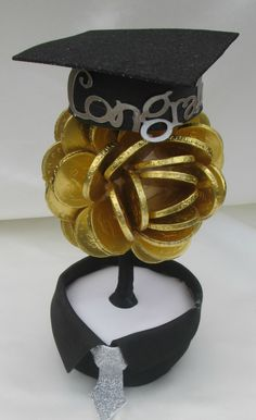 Gold coin sweet tree for Graduation - congratulations