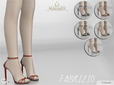 Sims 4 CC's - The Best: Madlen Fabrizio Shoes by MJ95
