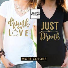 drunk on love shirt, bachelorette shirts, bachelorette party,bachelorette camping, bridesmaid shirts, bridesmaid tank top, bridesmaid gift,