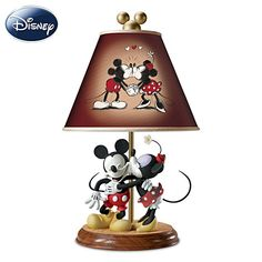 Mickey And Minnie Sweethearts Lamp for accent table between the two recliners in the Living Room.