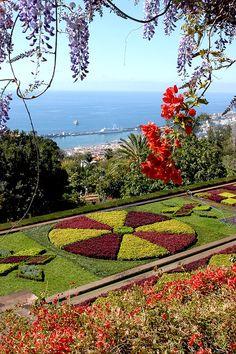 Botanical Garden, Funchal, Madeira Portugal www. Amazing Gardens, Beautiful Gardens, Beautiful Flowers, Beautiful Places, Garden Art, Garden Design, Landscape Design, Funchal Madeira, Gardens Of The World
